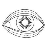 Eyelid surgery icon, outline style Stock Photo