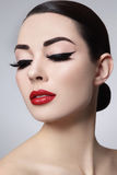eyeliner royaltyfri foto