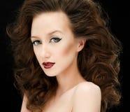 Eyeliner ed orli rossi fotografie stock