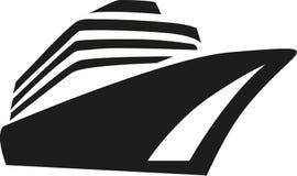 Eyeliner för kryssning för kryssningskepp stock illustrationer