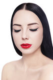 Eyeliner and lipstick Royalty Free Stock Photos