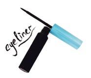 Eyeliner liquido nero con i colpi Fotografia Stock Libera da Diritti