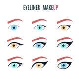 Eyeliner make up types vector illustration