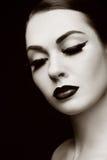 Eyeliner och falska snärtar Arkivbilder