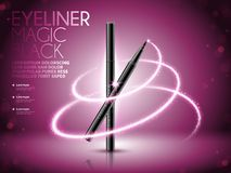 Eyeliner pen ads Royalty Free Stock Photos