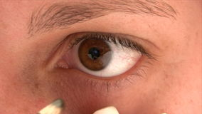 Eyeliner Pencil stock video footage