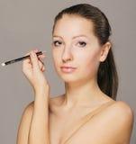 eyeliner ręka Zdjęcia Royalty Free
