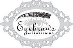 Eyelsah extentions和eyebronws microblading头发的眉头 库存图片