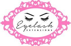 Eyelsah extentions和eyebronws microblading头发的眉头 免版税库存照片