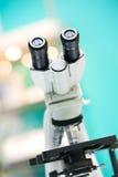 Eyepiece of microscope. Stock Photography