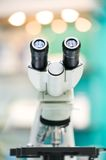 Eyepiece of microscope Stock Image