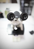 Eyepieces of the microscope. Stock Photography