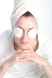 eyes девушка ее пусковые площадки Стоковое Изображение RF