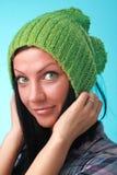 eyes зеленый цвет девушки Стоковая Фотография RF