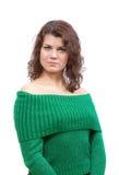 eyes зеленый цвет девушки Стоковое Изображение RF