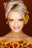 eyes солнцецвет Стоковые Изображения RF
