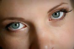 Eyes. The beautiful woman green eyes Royalty Free Stock Photos