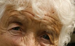 Eyes. Of an old woman Royalty Free Stock Image