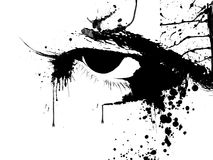 Eyes. Male eyes abstract scary look, ink splat Royalty Free Stock Photography