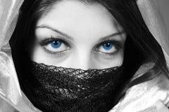 Eyes. Blue beautiful eyes of a women royalty free stock photo