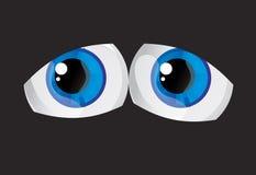 Eyes. Hypertrophied, huge balls bulging eyes Stock Images