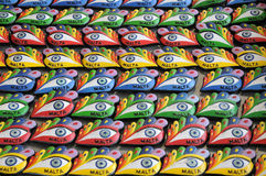 Eyes. Form the traditional boats in Marsaxlokk as souvenirs Stock Image