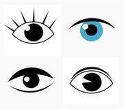 Eyes. Symbolic abstract woman eyes. Vector illustration Stock Photo