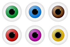 Eyes. Illustration Of Different Colored Eyes Stock Images
