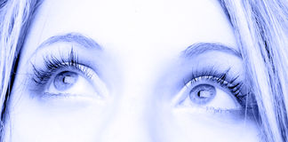 Eyes. Of the  girl close up Royalty Free Stock Images