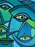 Eyes. Cold eyes. Acrylic on canvas royalty free illustration