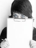 Eyes. Business lady Stock Photos