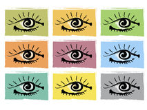 Eyes royalty free illustration
