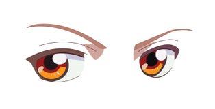 Eyes. Vector eyes (asian manga style). EPS and JPG formats royalty free illustration