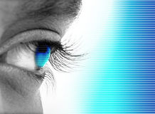Eyes. Little boy  designed some different colors Royalty Free Stock Photo
