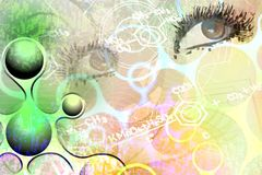 Eyes on abstract background. Stock Image