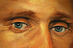 Eyes of adult man, illustration, painting Stock Images