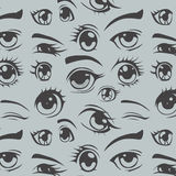 Eyes of anime seamless pattern Royalty Free Stock Images