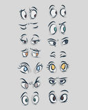 Eyes b. Hand drawn vector illustration or drawing of different types of eyes in a cartoon comic style stock illustration