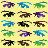 Eyes background Stock Images