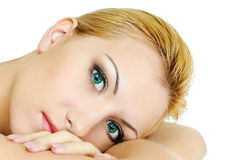 Eyes of beatiful girl Royalty Free Stock Photography