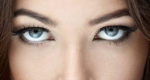 Eyes. Beautiful blue eyes close-up Royalty Free Stock Image