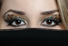 Eyes of beautiful eastern woman Stock Photo