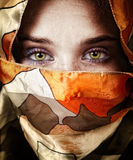 Eyes of beautiful mystery sensual woman Stock Image