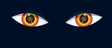 Eyes on black Royalty Free Stock Image