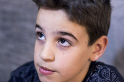 Eyes of a boy royalty free stock images