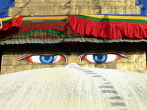 Eyes of Buddha Stock Photography