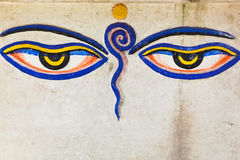 Eyes of buddha Royalty Free Stock Photo