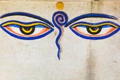 Eyes of buddha. Tibetan religious symbol: Eyes Of Buddha Royalty Free Stock Photo