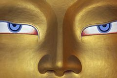 Eyes of a Buddha Stock Image