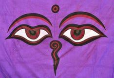 Eyes of Buddha. Close up the Eyes of Buddha Stock Images